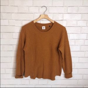 CAbi 3537 Step-Up Pullover Chunky Sweater
